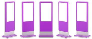 5 информационных дисплеев Стойки знамени в вашем дизайне бесплатная иллюстрация
