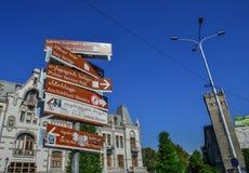 Информация на старом городке Тбилиси, Грузии стоковое фото