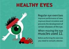 Информация о преимуществах гимнастики для здоровых глаз Стоковые Изображения RF