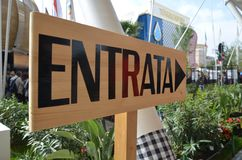 Информация строя на экспо 2015 в Милане стоковое изображение