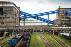 Инфраструктура в области Силезии, Польша минирования Стоковая Фотография