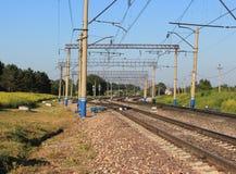 Инфраструктура железнодорожного пути Стоковые Фотографии RF