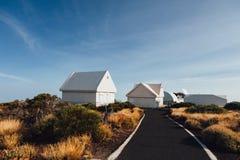 Инфраструктура обсерватории Teide в Тенерифе Стоковые Фотографии RF