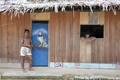 Индейцы в Перу Стоковые Изображения