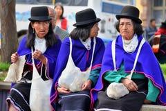 Индейцы Guanbano в рынке Silvia, Колумбии Стоковое Изображение RF