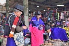 Индейцы Guanbano в рынке Silvia, Колумбии стоковое фото rf