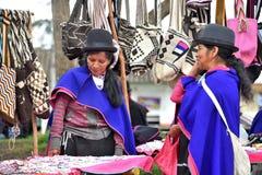 Индейцы Guanbano в рынке Silvia, Колумбии Стоковые Изображения RF