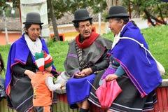 Индейцы Guanbano в рынке Silvia, Колумбии Стоковая Фотография RF