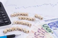 Индекс курсов акций Стоковые Фото