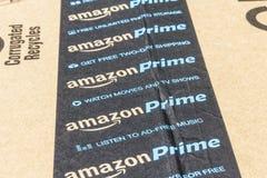 Индианаполис - около сентябрь 2016: Пакет пакета главного Амазонки амбивалентности com розничный торговец премьер-министра онлайн Стоковые Изображения