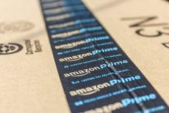Индианаполис - около сентябрь 2016: Пакет пакета главного Амазонки амбивалентности com розничный торговец премьер-министра онлайн Стоковое Фото
