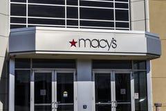 Индианаполис - около февраль 2017: Универмаг ` s Macy Macy's, Inc розничные торговцы Omnichannel премьер-министра Nation's v стоковые изображения