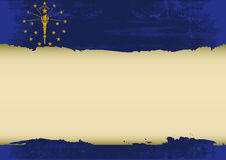 Индиана поцарапала флаг Стоковые Изображения