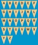 Индивидуальные вымпелы или флаги ткани с письмами Стоковое фото RF