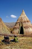 Индигенная персона варя в Перу Стоковые Изображения RF