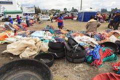 Индигенный рынок в Saquisili, эквадоре Стоковое Изображение RF