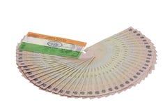 Индийская валюта с флагом Стоковые Фотографии RF