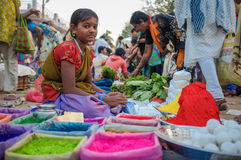 Индийская девушка Стоковая Фотография