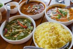 Индийская еда кухни Стоковое Изображение RF