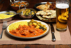 Индийская еда обедающего карри Стоковые Изображения