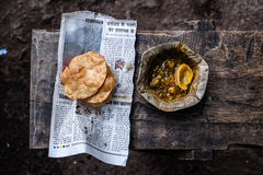 Индийская еда улицы стоковая фотография