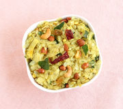 Индийская закуска Poha Chivda стоковое фото
