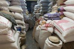 Индийская комната запаса риса Стоковое Фото
