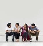 Индийская концепция пристанища одноклассников друзей стоковые изображения