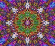 Индийская краска мандал Стоковое Фото