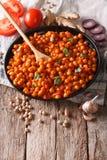 Индийская кухня: Masala Chana с концом-вверх ингридиентов вертикально Стоковые Фотографии RF