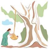 Индийская мать иллюстрация штока