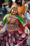 Индийская маленькая девочка деревни гуджаратей Стоковое Изображение RF