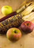 Индийская мозоль и яблоки Стоковые Фото