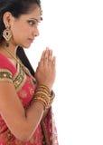 индийская молитва Стоковая Фотография RF