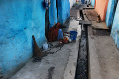 Индийская область трущобы стоковое фото rf