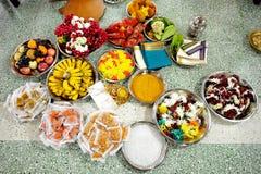 Индийская подготовка свадьбы Стоковые Изображения RF