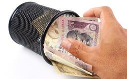 индийская рупия Стоковое фото RF