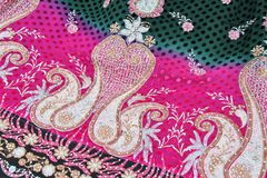 Индийская ткань Стоковые Фото