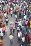 Индийская толпа в вероисповедном случае Стоковые Изображения