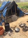 Индийская трущоба Стоковые Фотографии RF