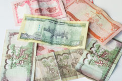 Индийские деньги - банкноты национального банка Непала Rastra - примечания рупий Непала стоковая фотография rf