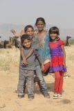 Индийские дети в Pushkar, Индии Стоковые Фотографии RF