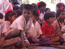 Индийские дети деревни Стоковое Изображение