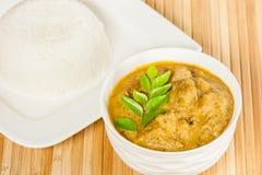 Индийские карри и рис баранины Стоковые Изображения