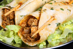 Индийские обручи Tikka Kebab цыпленка Стоковое фото RF