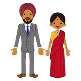 Индийские пары иллюстрация вектора