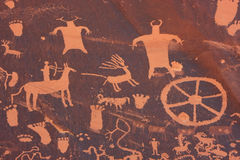 Индийские петроглифы, памятник положения утеса газеты исторический, Юта, США стоковое фото rf