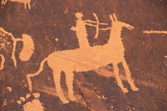 Индийские петроглифы, памятник положения утеса газеты исторический, Юта, США Стоковое Изображение RF