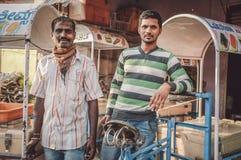 индийские работники стоковая фотография