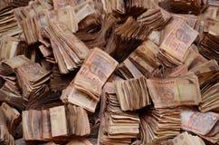 Индийские рупии безшовной текстуры стоковые фото